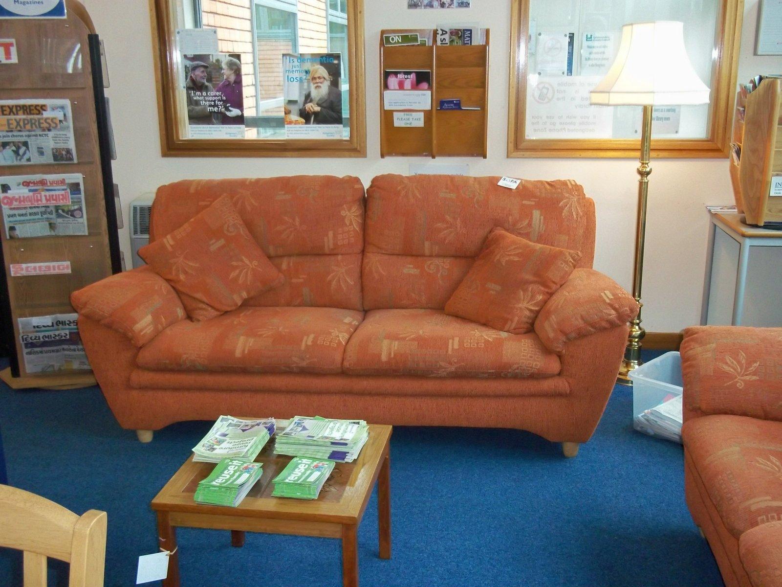 sofa - sofa furniture in loughborough library march 2012 | a sofa