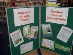 Image: Information Boards at Loughborough Library