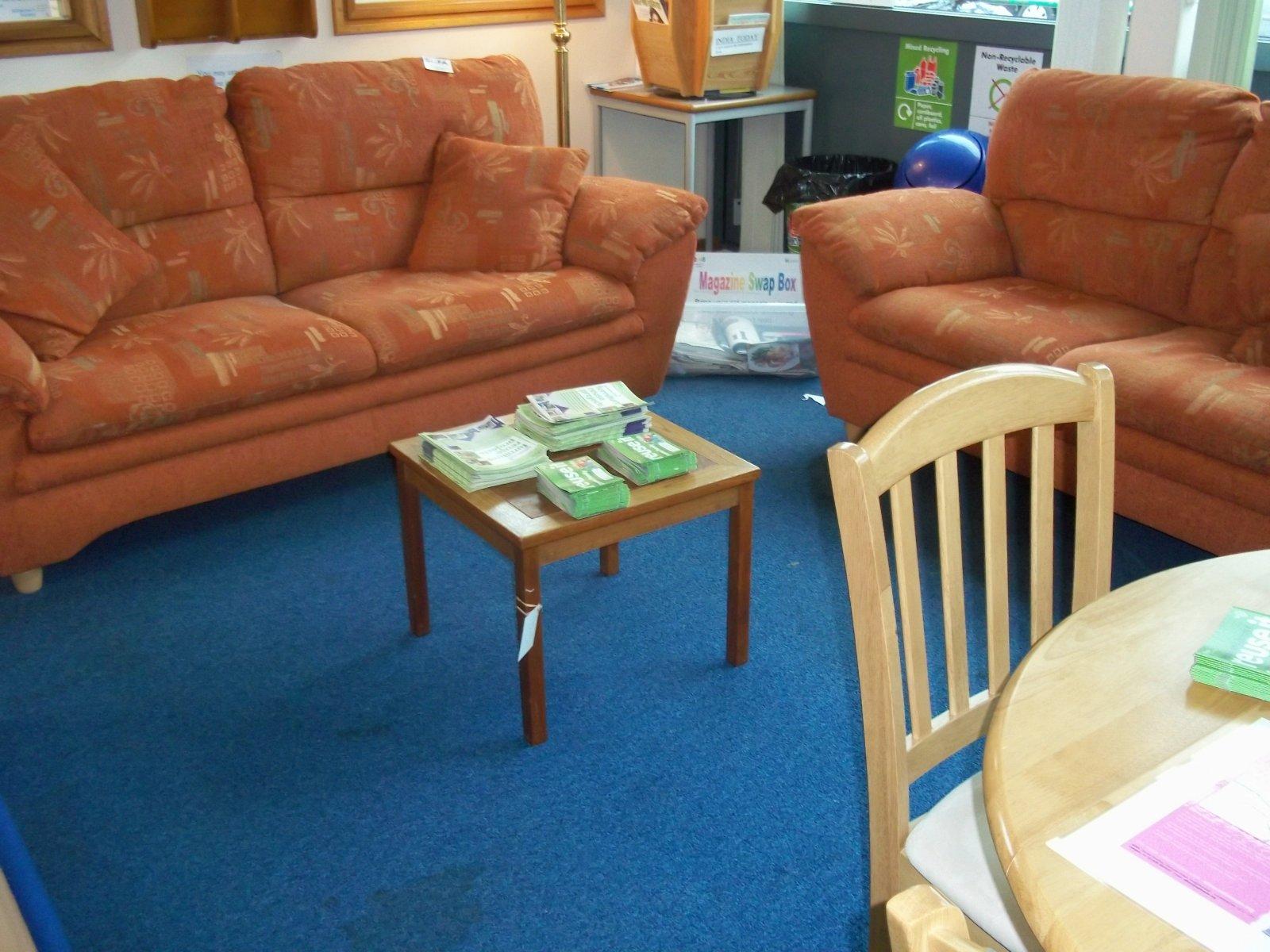 sofa - sofa furniture in loughborough library march 2012