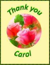 THANK YOU to our donor Carol