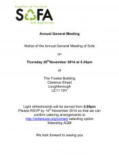 Notice of the Annual General Meeting of Sofa